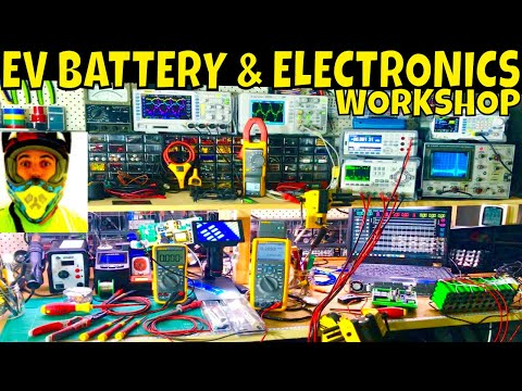 My Electronics Lab & Battery Building Workshop... oh yeahh!!