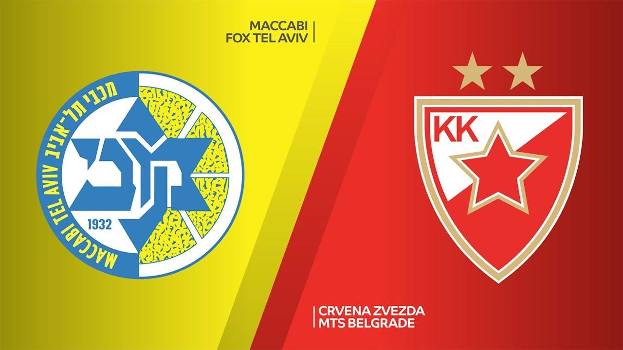 Maccabi FOX Tel Aviv - Crvena Zvezda mts Belgrade Highlights | EuroLeague, RS Round 3