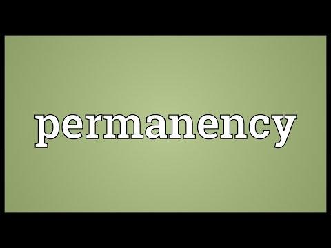 Header of permanency