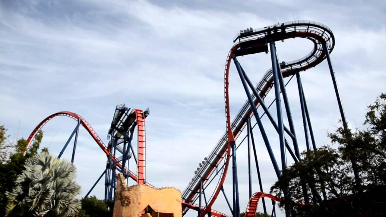 Sheikra Rollercoaster In Busch Gardens Tampa Bay Florida Youtube