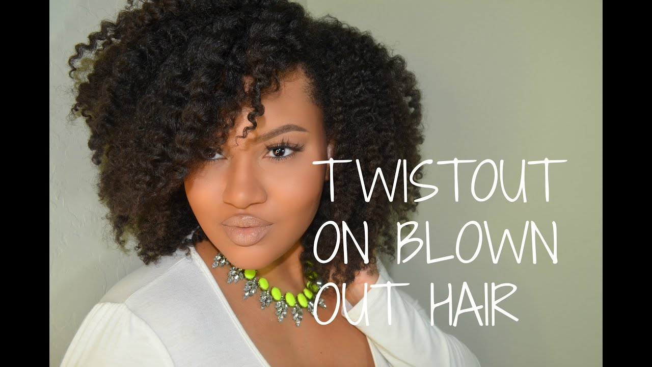 Pure Hair Blowout Twist Out