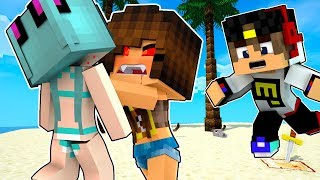 РЕБЕНОК ВАМПИР УКУСИЛ ДЕВУШКА ВЫЖИВАНИЕ НА ОСТРОВЕ В МАЙНКРАФТ! Видео Мультик для детей Minecraft