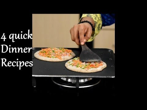 4 Quick Dinner Recipes | 4 Light And Easy Indian Dinner Recipes | Healthy Dinner Recipes