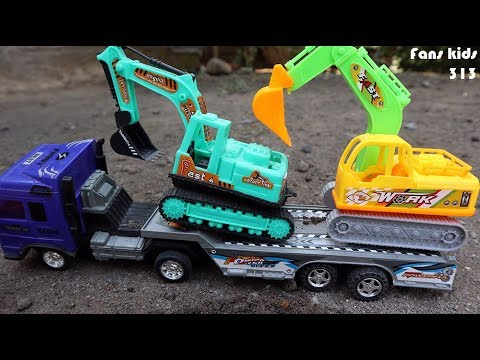 Toys construction for children I Mainan anak excavator, dum truk, truk trailer & mobil