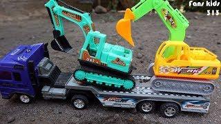 Toys construction for children I Mainan anak excavator, dum truk, truk trailer & mobil
