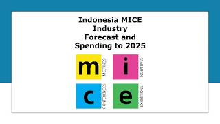 Indonesia MICE Tourism Industry Forecast and Spending to 2025