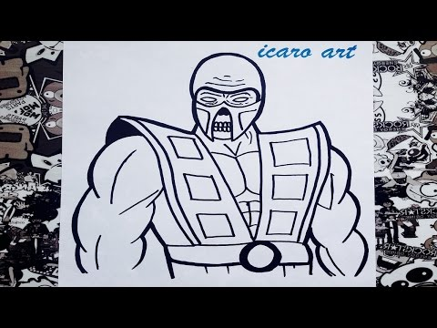 Como Dibujar A Scorpion How To Draw Scorpion Mortal