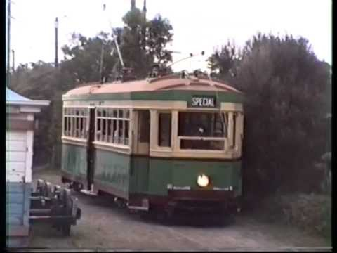"First Day of Trams on the  ""Royal National Park Line""  (1st of May 1993). wmv"