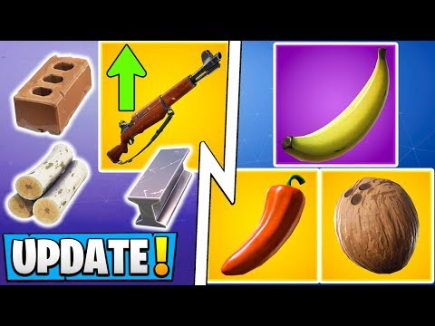 *ALL* Fortnite 8.20 Changes! | Big Building Update, Infantry Rifle Buff, New Consumables!