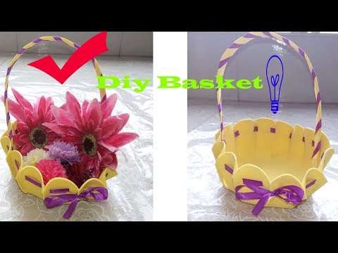 How To Make Basket From Craft Foam Sheet