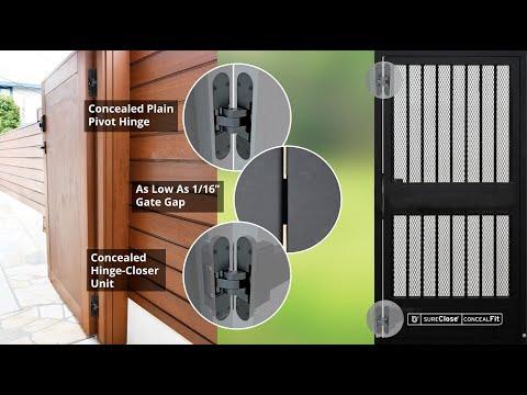 D&D Technologies SureClose® ConcealFit gate closer & hinge adjustments