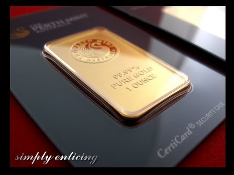 Perth Mint 1 oz Gold Bars