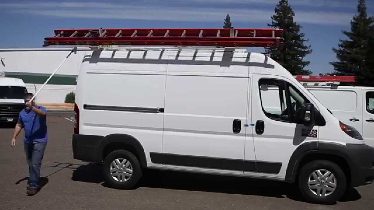Kargo Master Promaster Drop Down Ladder Rack Demo Youtube