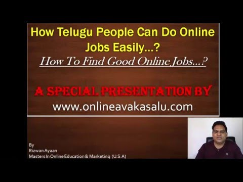 Best Online Jobs For Telugu People