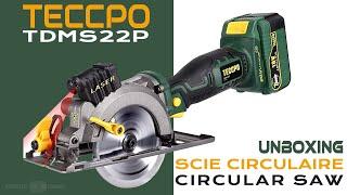 TECCPO TDMS22P : Scie Circulaire ▶️ Déballage et Présentation