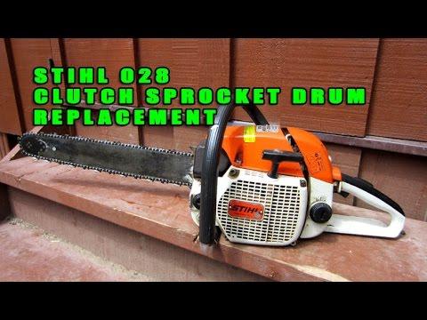 Stihl 028 Chainsaw Clutch Sprocket Drum Replacement