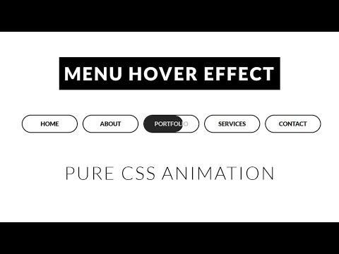 CSS Creative Menu Hover Animation