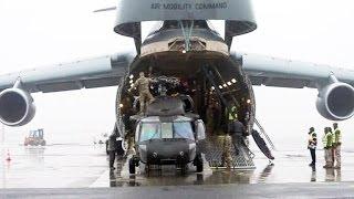 В Латвию доставляют американские вертолёты Black Hawk(Первый вертолет UH-60 Black Hawk доставлен из Соединенных Штатов в Латвию. Он входит в состав бригады фронтовой..., 2017-03-01T18:00:02.000Z)