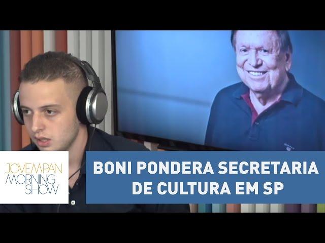 """Boni pondera secretaria de Cultura em SP: """"mudar do Rio não é uma situação fácil"""" l Morning Show"""