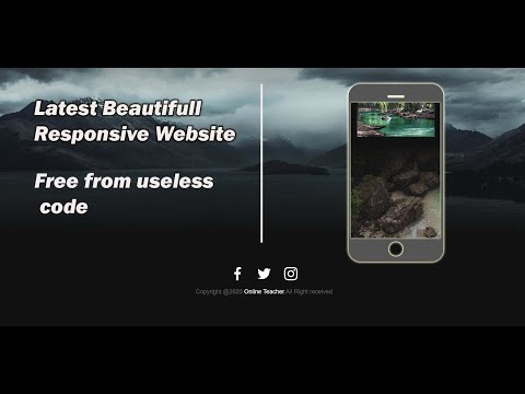 Pure HTML And CSS Responsive Beautifull Website