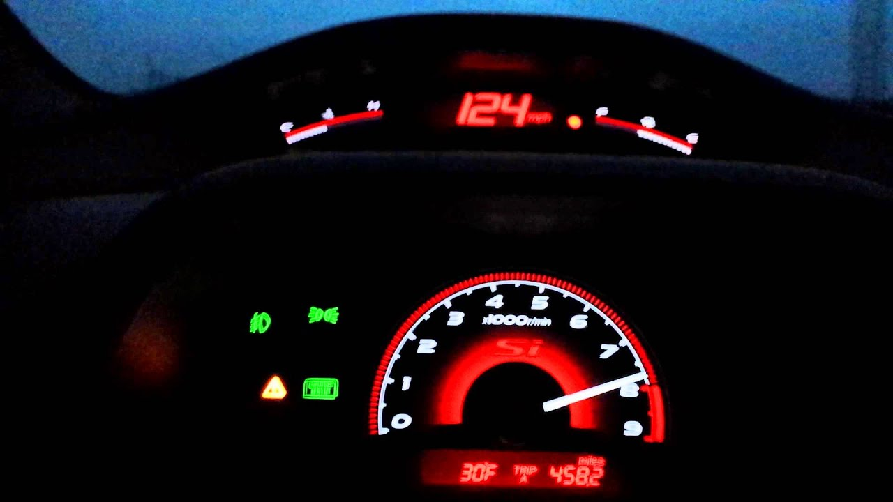 Elegant 2009 Honda Civic SI Top Speed Run