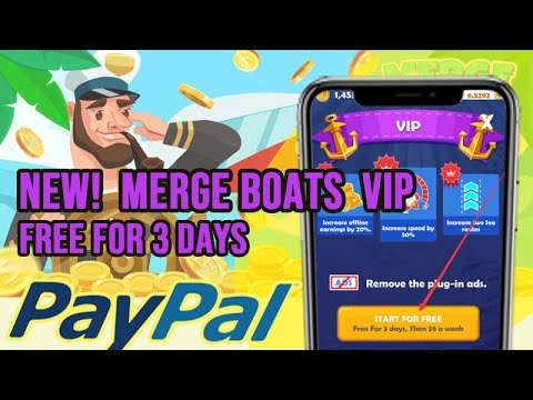Merge Boats APP Earn Money Legit, Free PayPal Cash, VIP for Free, Win Prizes