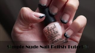 Simple Nude Nail Polish Tutorial Thumbnail
