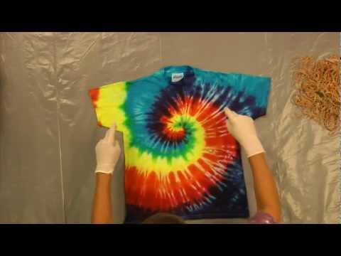 Jacquard Products Presents: Tying and Dyeing Centered Rainbow Spiral (Pt.1)