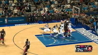 NBA 2K12: Mavs vs Heat Gameplay Movie (PC)