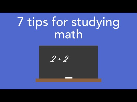 7 tips for studying math