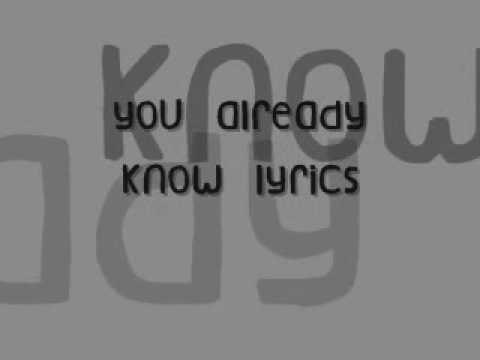 112-U Already Know Lyrics