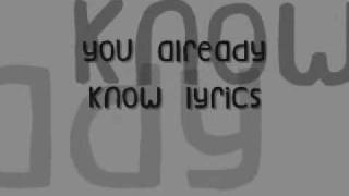 112-U Already Know Lyrics