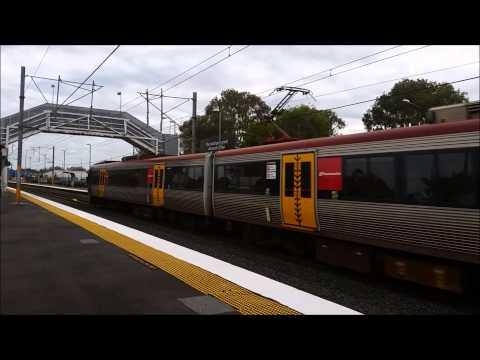 Queensland Rail IMU164, IMU 166 express through Morayfield Station.