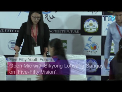 Open Mic with Sikyong Dr Lobsang Sangay on 'Five-Fifty Vision