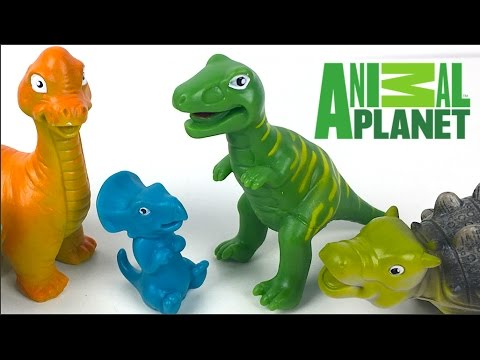 ANIMAL PLANET MEGA DINOSAUR DISCOVERY -T-REX TRICERATOPS BRONTOSAURUS ANKLYSAUROS DINO EGG -UNBOXING