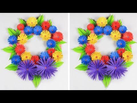 DIY-Wall Hanging Craft Ideas: DIY Room decoration Ideas | Wreath for Home Decoration