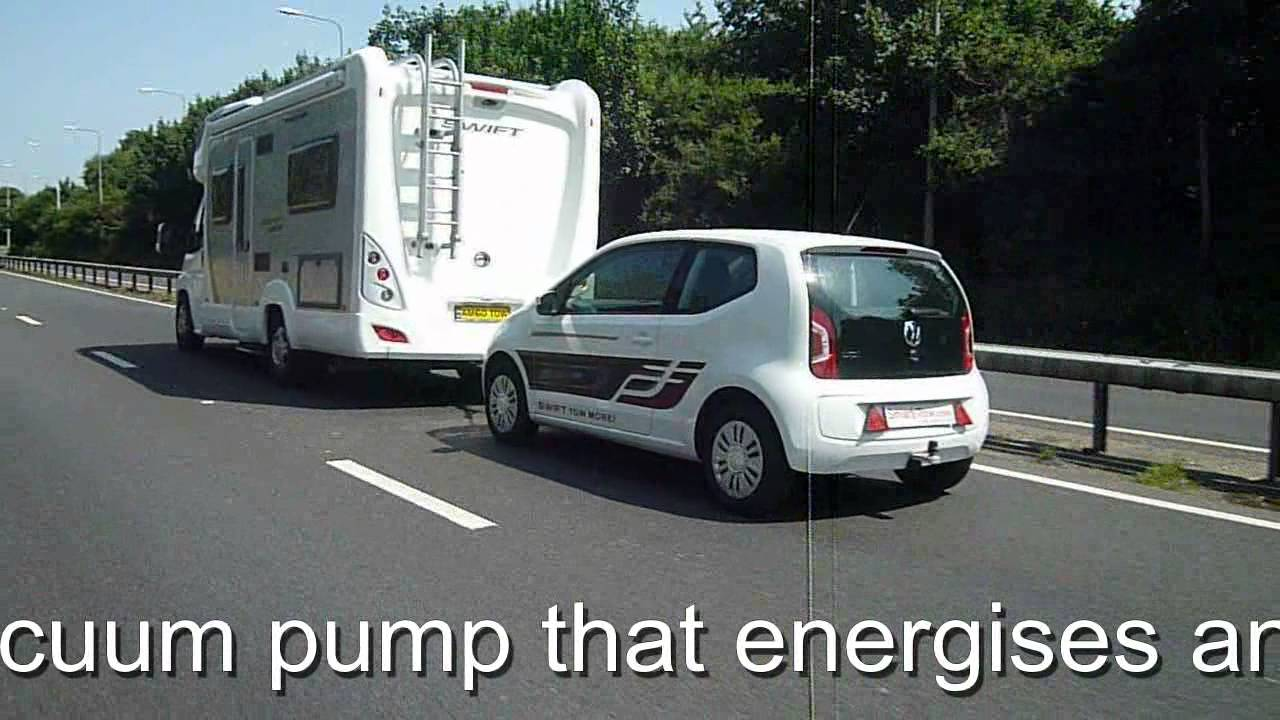 Smart Tow VW Up being towed by Swift Motorhome on A-Frame with ...