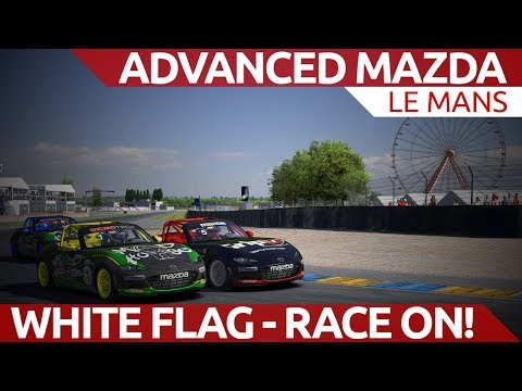 Race starts when the white flag waves! Advanced mazda @ Le Mans iRacing