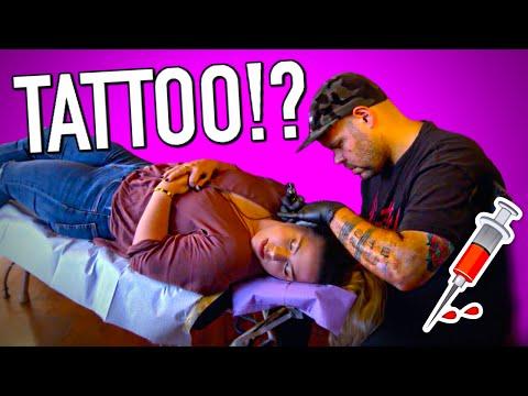 Getting my first tattoo!