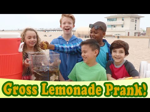 GROSS LEMONADE PRANK!!! Delicious Sea Water! Walk The Prank