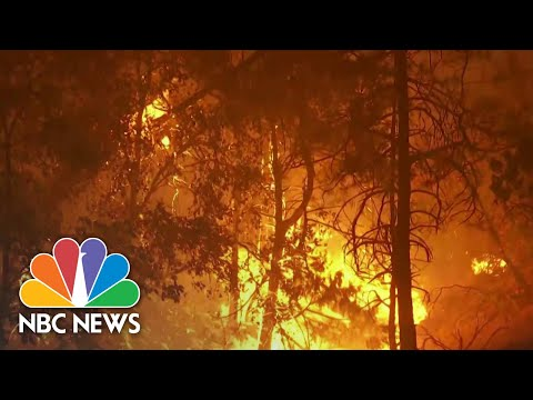 Battle Against Wildfires Intensifies Along West Coast | NBC Nightly News