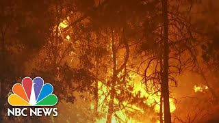 Battle Against Wildfires Intensifies Along West Coast  NBC Nightly News