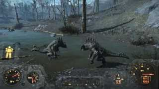 Fallout 4 Два Когтя Смерти сражаются между собой