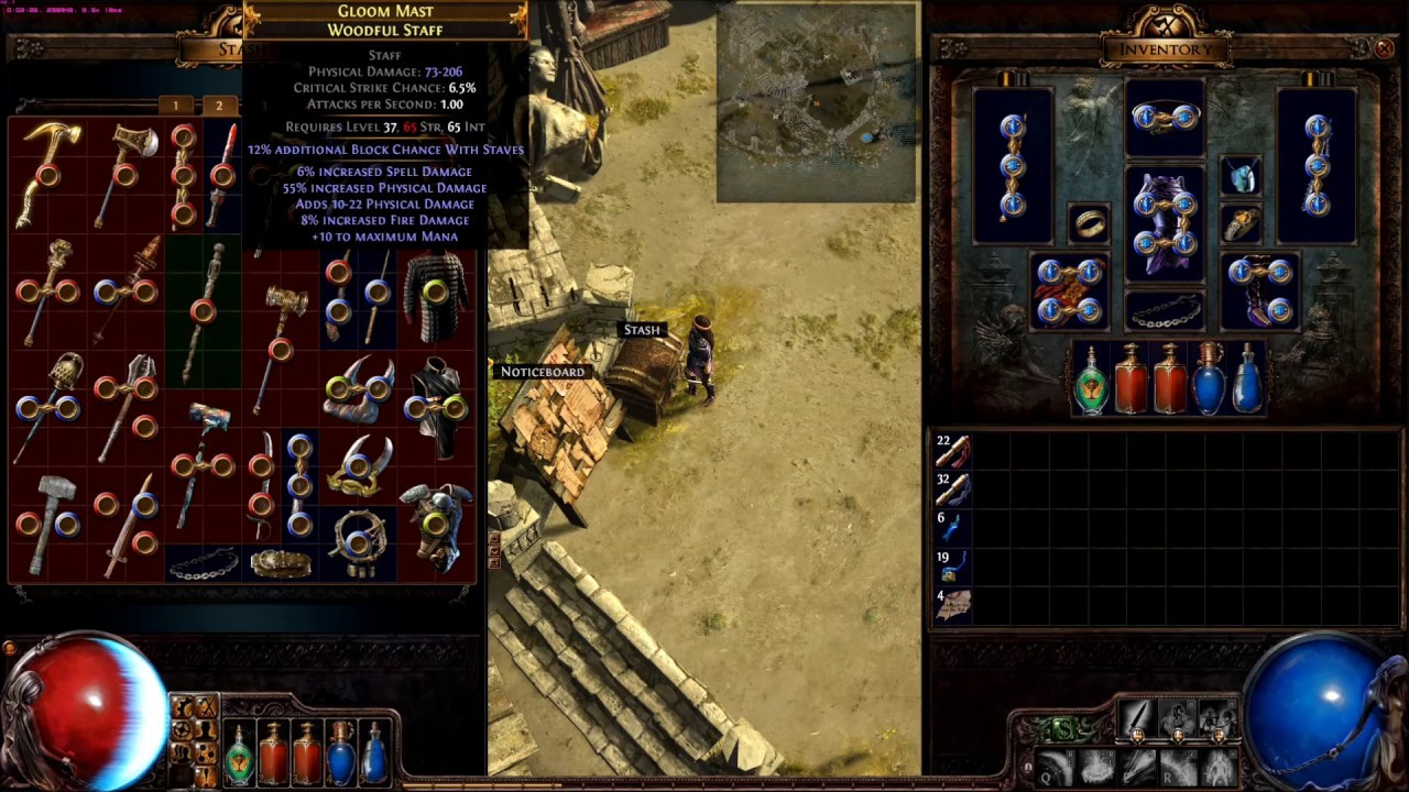 Path of Exile item list for reddit