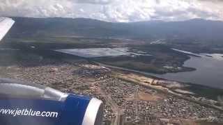 JetBlue Flight B6 559 New York JFK Takeoff to Jamaica KIN Landing Airbus A320