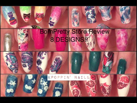 BornPretty Store Review: 8 Designs Using Water Decals