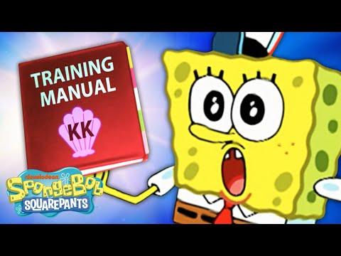 Krusty Krab Training Video In 5 Minutes 🍔 | SpongeBob SquarePants