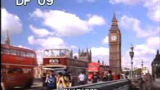 London - Double Decker Buses 35mm 2 - London England - Best Shot Footage - Stock Footage