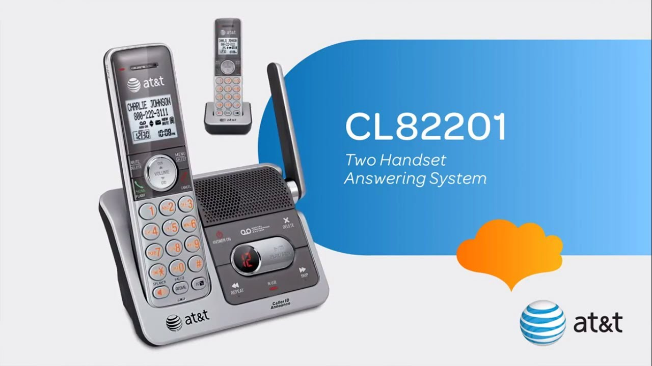 at t cl82201 two handset answering system youtube rh youtube com