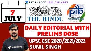 7th July - Daily Current Affairs | The Hindu Summary & PIB - Pre Mains (UPSC CSE/IAS 2020)